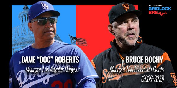 """Dave """"Doc"""" Roberts is the manager of the LA Dodgers, and has led the team to win the NL West every year since he took over the position in 2015. Bruce Bochy won three World Series titles in five years between 2010 and 2014 as manager for the San Francisco Giants."""