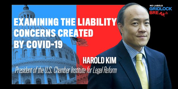 Harold Kim is the president of the U.S. Chamber Institute for Legal Reform