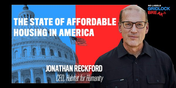 Jonathan Reckford has been the CEO of Habitat for Humanity since 2005